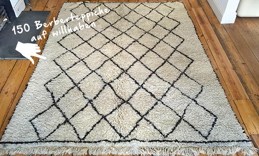 Berberteppiche fügen sich wunderschön in jedes Zuhause ein. Mehr als 150 ähnliche Teppiche findest du hier!