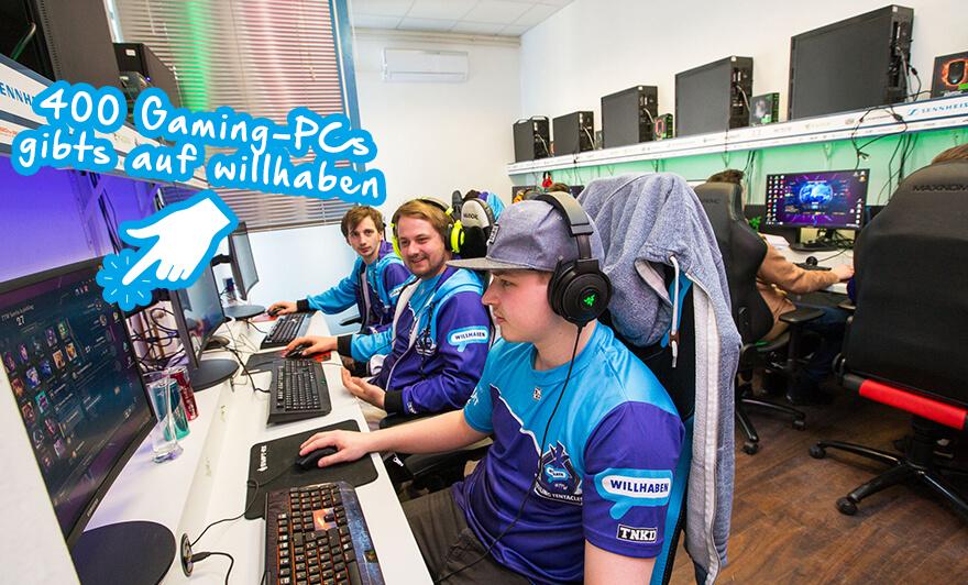 Das esports-Team TTW mit Gaming PCs