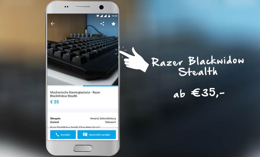 Razer Blackwidow Stealth auf willhaben