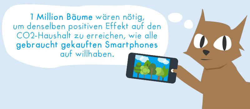 Gebrauchte Smartphones wie 1 MIo. Bäume
